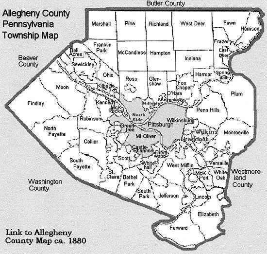 Allegheny County Map