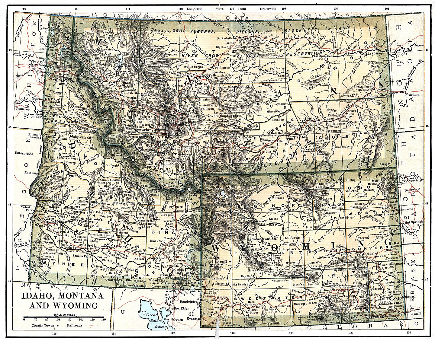 Wyoming Maps. Wyoming Digital Map Library. Table Of Contents. United States Digital Map Library